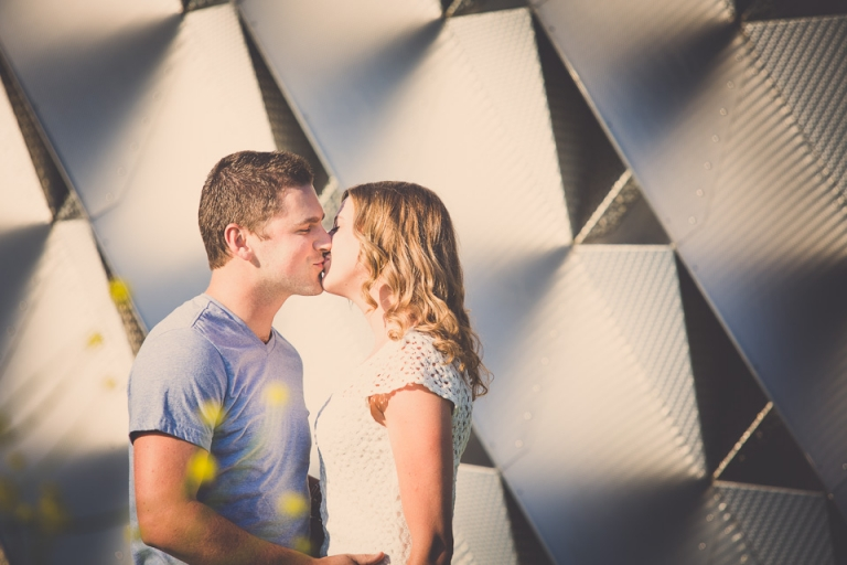 Rustic and urban wedding engagement photography taken in downtown Buffalo.